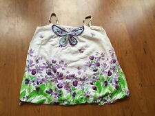 euc Children Place PURPLE BUTTERFLY TANK TOP Embellished sequin GIRL Shirt m 7 8