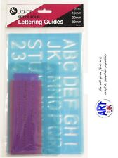 Jakar LETTERING GUIDE set of 4 Stencil Alphabet & Numbers Drawing Template 4027