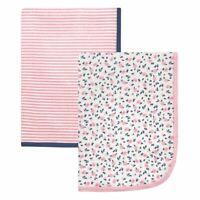 Hudson Baby Girl Swaddle Blanket, 2-Pack, Tiny Floral