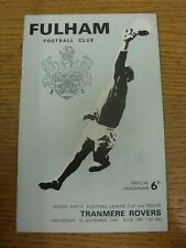 13/06/1967 Fulham v Tranmere Rovers [Football League Cup] (rusty staples, crease