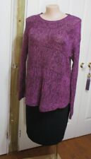 LADIES MILLERS PURPLE AND BLACK  SWEATER SIZE XXL