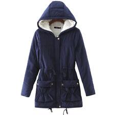 Womens Hooded Coats Fleece Lined Jacket Hoodie Top Winter Warm Windproof Outwear