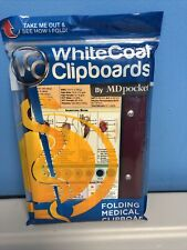 Md Pocket WhiteCoat Clipboard Folding Medical Clipboard