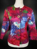 Beautiful Women's Size 4 Coldwater Creek Multi-Color LS Lined Blazer Jacket