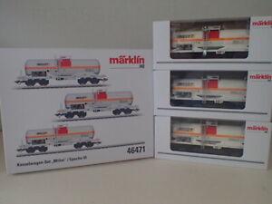 Märklin Kesselwagen Güterwagen Millet H0 46471 Chemie-Kesselwagen NL OVP