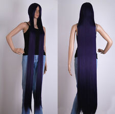 """Women Mixed Dark Purple Extra Long Wig60 """"/150cm Cosplay Party Costume Anime Wig"""