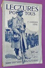 LECTURE POUR TOUS 1916 GUERRE 14-18 REINE BELGIQUE MONTAGNE SERBIE REIMS SUEZ