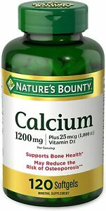 Calcium Carbonate & Vitamin D by Nature's Bounty, Supports Immune Health &...