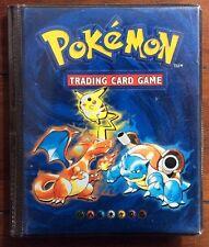 Collectible Pokemon Album - Charizard Blastoise Pikachu - 14 Pages W/ 30+ Cards