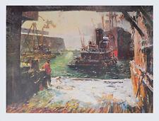 Jack Lorimer Gray Kunstdruck Poster Bild hochwertiger Lichtdruck Lotse 73x102 cm