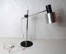 Ancienne lampe de bureau design en métal inox vintage