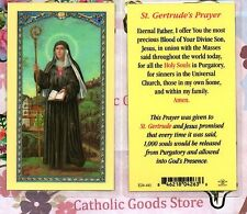 St. Gertrude - Saint Gertrude's Prayer - Laminated Holy Card