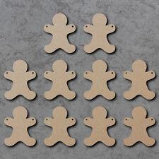 PAN De Jengibre Hombre/Man Bunting x10-Verano De Madera Craft empavesado espacios en blanco y signos
