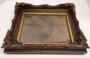 Antique Vintage Carved Wood Deep 3D NH Picture Frame 12x14