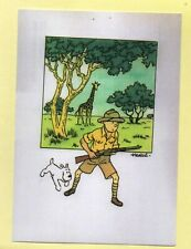 Carte postale Tintin. AU CONGO. Reprenant l'aquarelle des années 40. HC. Neuf