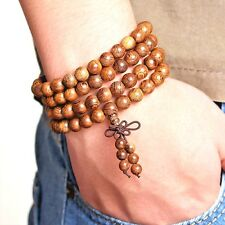 Prayer Beads Tibetan Buddhist Mala Buddha Bracelet Rosary Wooden Bangle Jewelry