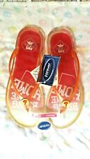 NWT PHILLIES PINK SPARKLY PLASTIC FLIP-FLOPS: FOREVER COLLECTIBLES: WOMENS XL