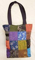 Thai Handmade Hippie Hobo Style Shoulder Bag Prints Cotton Patchwork Fabric