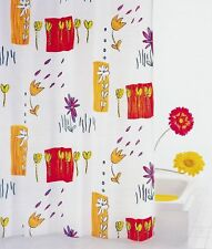 RIDDER Duschvorhang Textil 120 x 200 cm Fiori, inkl. Ringe