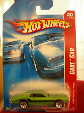 Hot Wheels 1968 Mercury Cougar Code Car Green