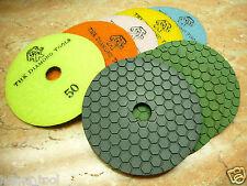 "4"" inch 100mm THK Diamond DRY polishing pads pad wheel marble granite stone AAA"