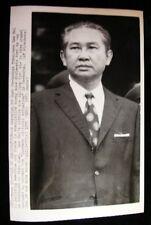 CAMBODIAN PREMIER LON NOL   PHOTO1975 #7019