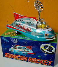 MASUDAYA TIN JAPAN MINI SONICON SPACESHIP ROBOT MINT