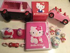 15 Hello Kitty Item Lot Cars Bus 4 figures Rings+ Charm Bracelet Hello Kitty