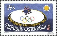 Austria 2243 (complete issue) unmounted mint / never hinged 1998 Olympics Winter