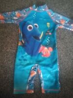 Boys NEMO  all on one sun/swim suit  UPF 40+ age 2-3 years excellent condition