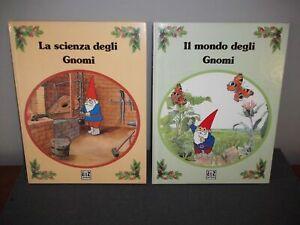 2 Libri AMZ MONDO + SCIENZA DEGLI GNOMI - David Benjamin 1986 D'avena