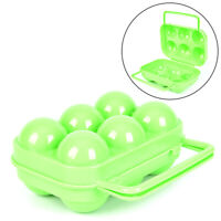 Plastic 6 Grids Portable Barbecue Outdoor Egg Box Kitchen Egg Storage Boxes~YJ