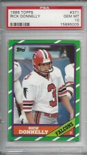 1986 Topps #371 - Rick DONNELLY - PSA 10+++ RC Falcons