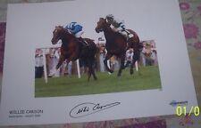 Willie carson hand signed ( nashwan epsom derby) 16 x 12 INCH