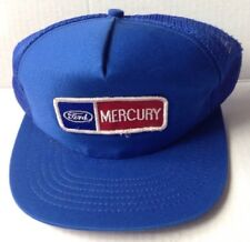 1970s 1980s  FORD MERCURY BASEBALL CAP HAT, BLUE MESH, NEW OLD STOCK, VINTAGE