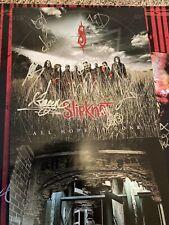"slipknot signed all hope is gone promo 12x24"".      12x12"