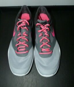 Ladies Grey/Pink NIKE Gym/Fitness Shoes Size 4 (37)