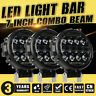3X 7 Inch LED Round Work Light Spot Flood Driving HeadLamp Offroad SUV ATV 9''