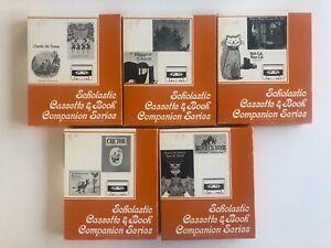 Vintage Lot x5 Scholastic Cassette & Book Companion Series - Various Titles