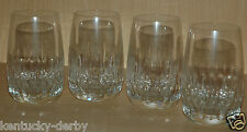 4 Stück Trinkgläser aus Bleikristall