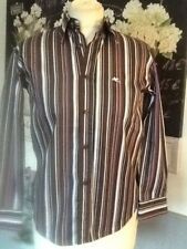 ETRO SHIRT BLOUSE STRIPPED FITTED UK 10