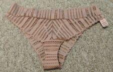 Victoria Secret Panties Cheeky Tanga Panty Cut Out Mauve Pink Medium NWT $29.50