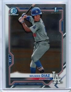 2021 Bowman Chrome #BCP-197 Wilman Diaz Los Angeles Dodgers 1st Bowman Prospect