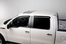 Tinted Window Visors Fits 2011-2014 Ford F150 Crew Cab (Set of 4) Tape on