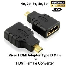 HDMI Female To Micro HDMI Adapter Type D Male  Converter Connect to TV LCD HDTV