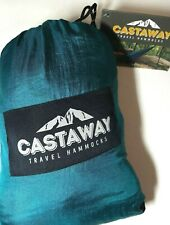 "New Castaway Travel Double Hammock Nylon Backpack w/Storage Bag 118"" x 79"" Green"
