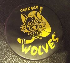 1990's Chicago WOLVES International Hockey League (IHL) OFFICIAL HOCKEY PUCK