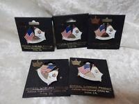 2002 Salt Lake Olympic Pins Lot of Five US Flag Olympic Flag