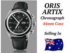 Genuine Leather Band Round Watches Oris