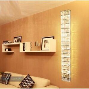 60cm/100cm LED Bedside Hallway Living Room Foyer Crystal Wall Lamp Sconce Light